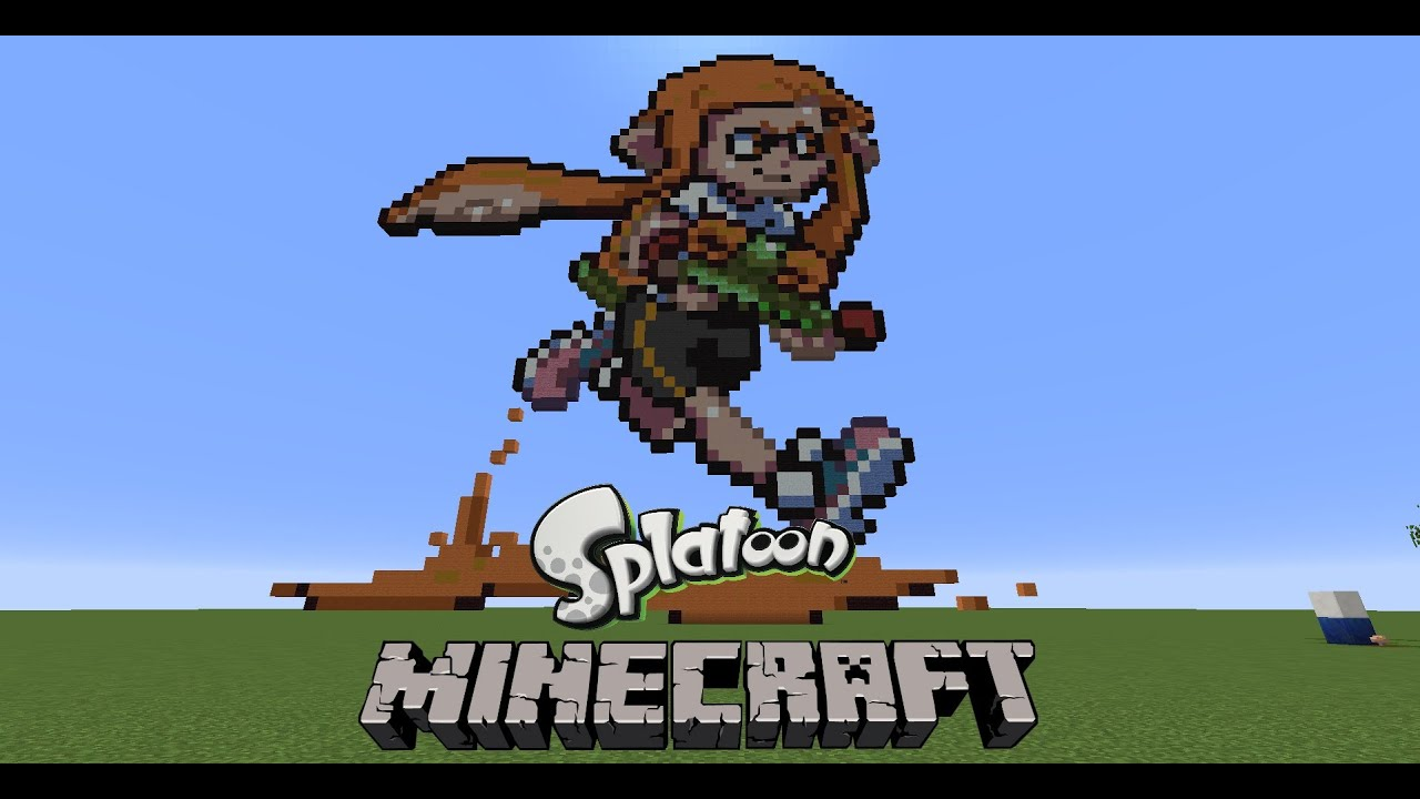 Splatoon Pixel Art In Minecraft