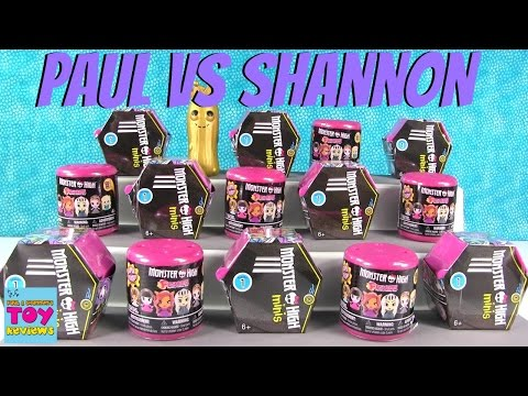 Paul vs Shannon Challenege Monster High Fashems Minis Edition | PSToyReviews