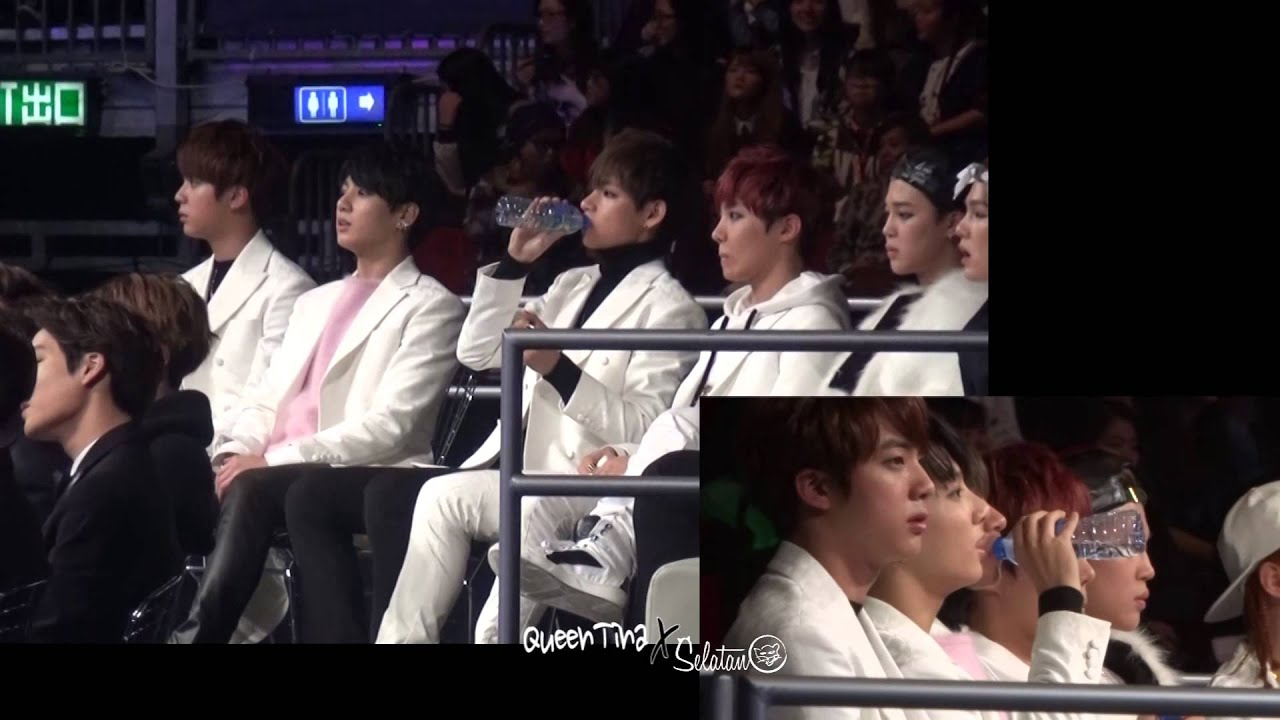 141203 MAMA off stage BTS V choked [QueenTina x SeLatAn]