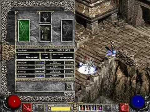 Diablo 2 poison nova necromancer guide with fast chaos run! (old.