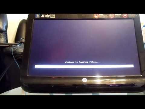 HP All-In-One Desktop Full Factory Restore reinstall Windows 8 7 (reset Omni 120 100 27 705 EliteOne