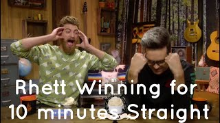Rhett winning for 10 minutes Straight. (GMM)