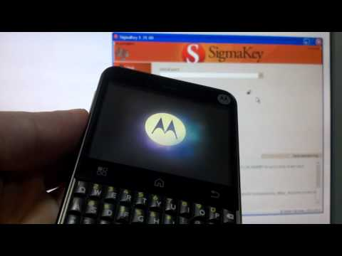 Unlock Motorola Charm MB502 with Sigma!