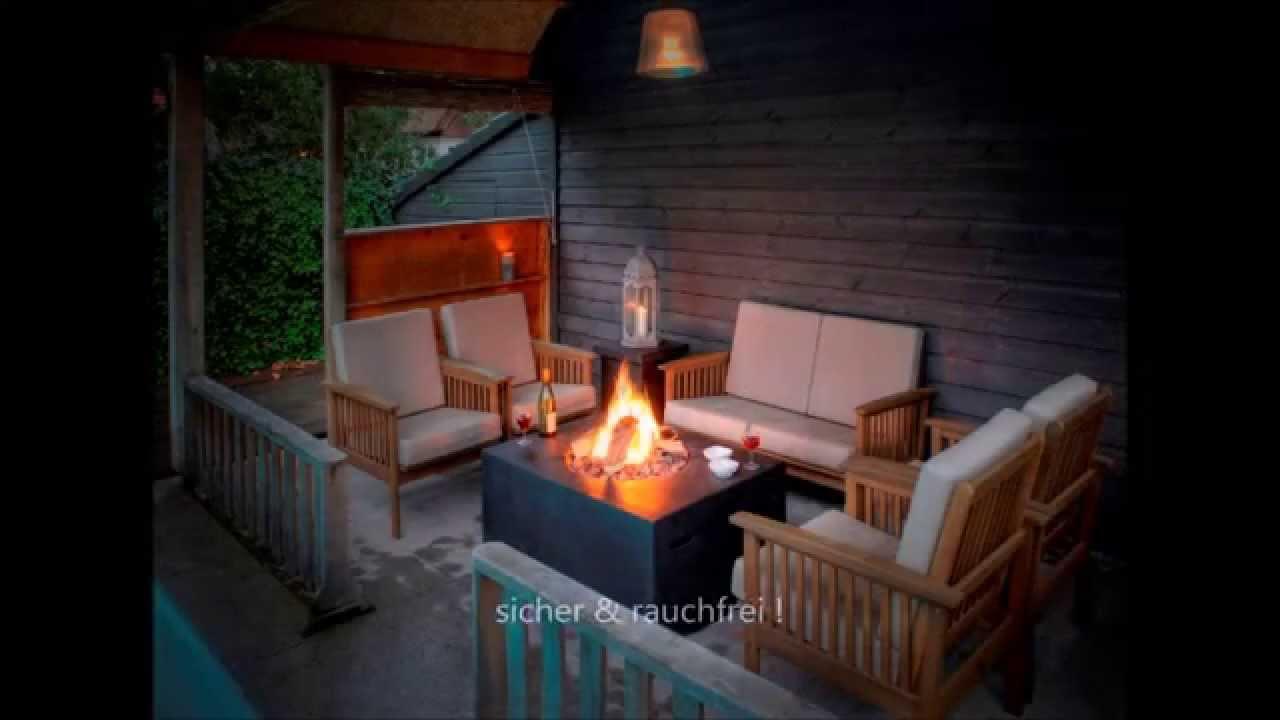 Loungefire Table rauchfreies Ambiente Gasfeuer fr