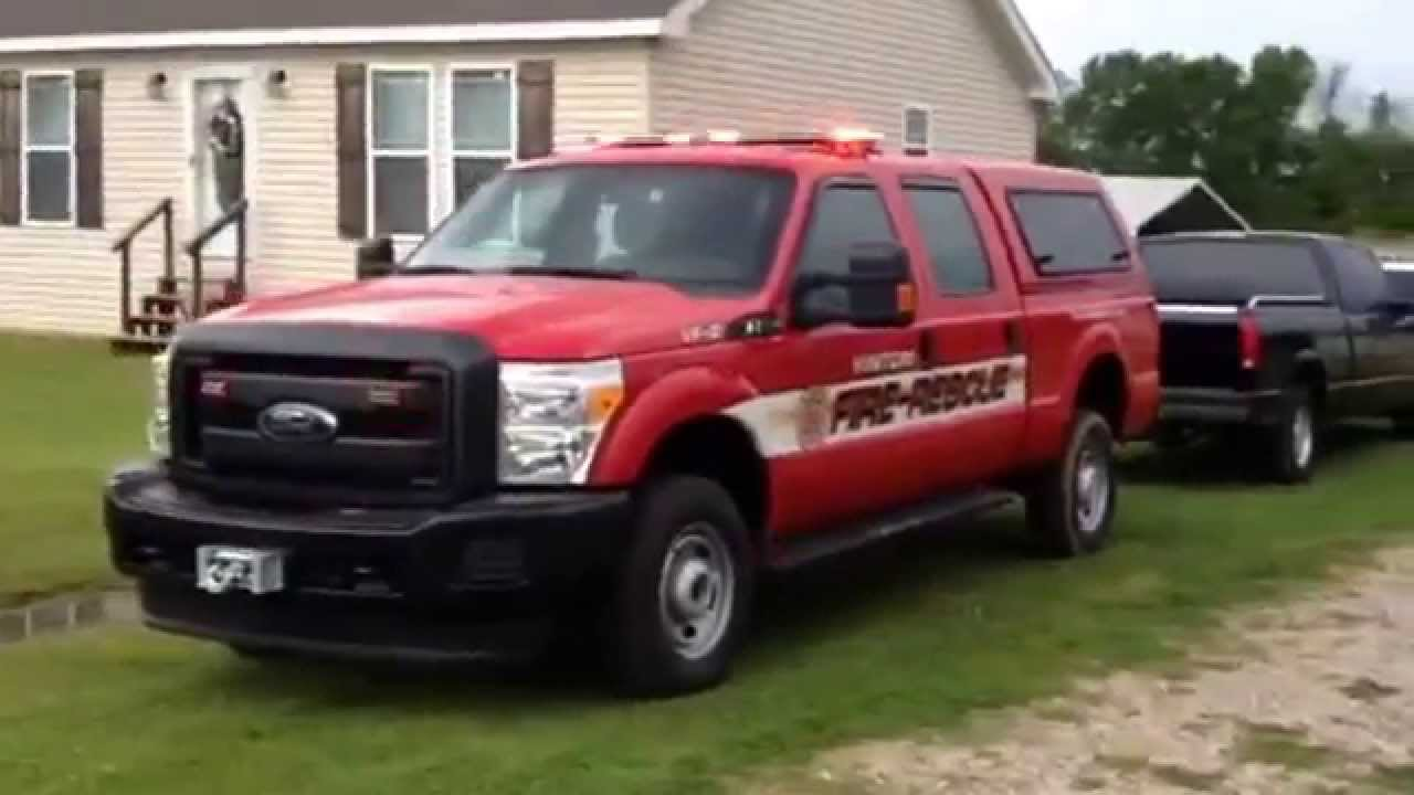 F250 Emergency Lights Vinton Fire  YouTube