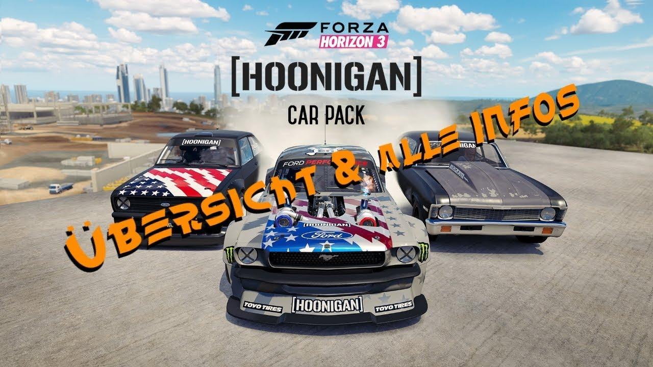 HOONIGAN - Autopaket | ÜBERSICHT + Alle INFOS | FORZA HORIZON 3 ...