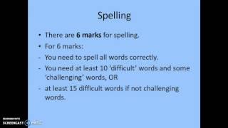 NAPLAN criterion 10: Spelling