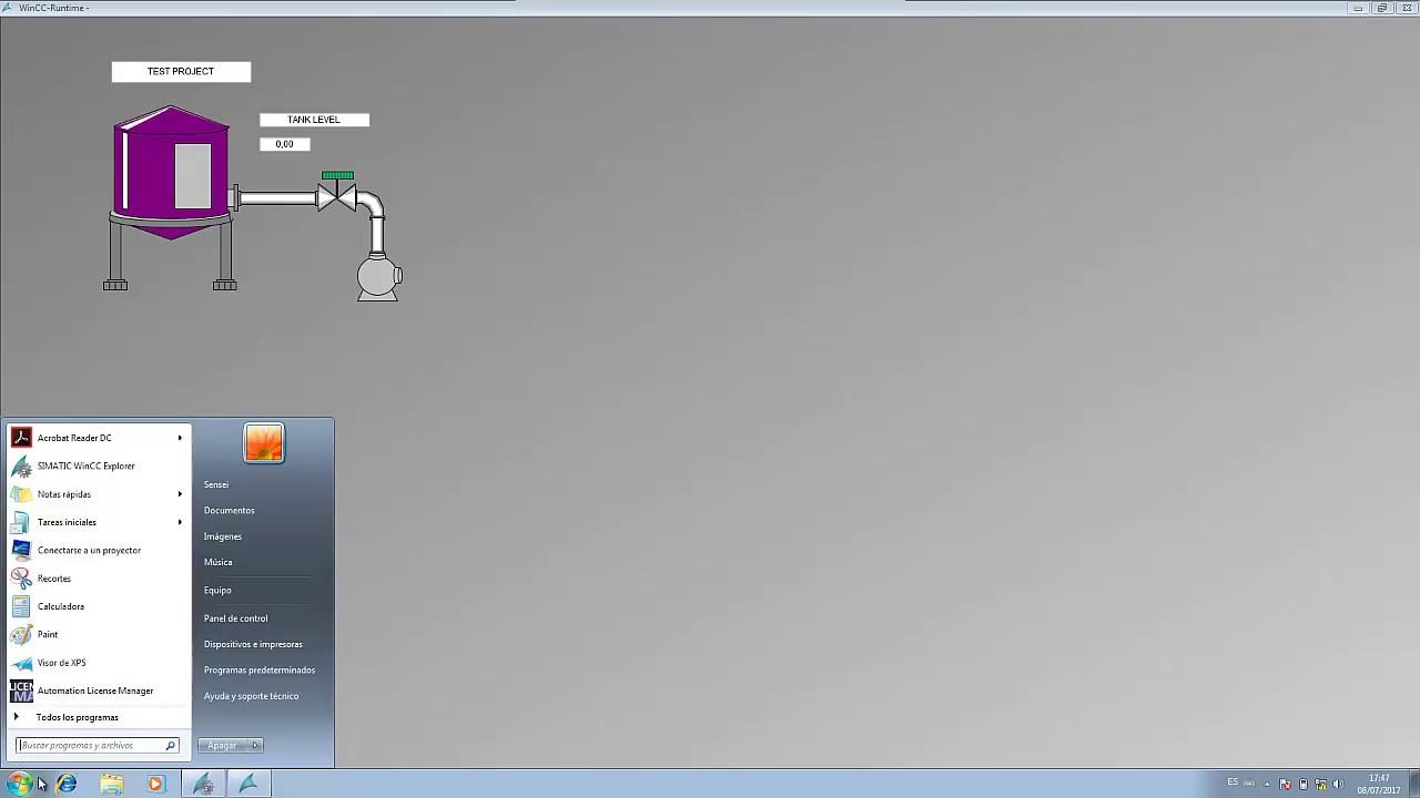 WinCC Explorer [4]: Configurar y Ejecutar RT/ Configure and Play RT
