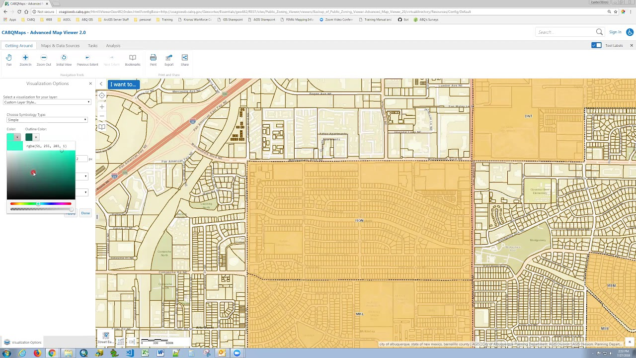 Advanced Map Viewer User Guide — City of Albuquerque