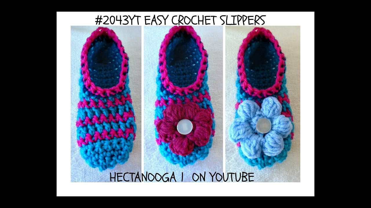 How To Crochet Easy Slippers Any Size Free Crochet Pattern