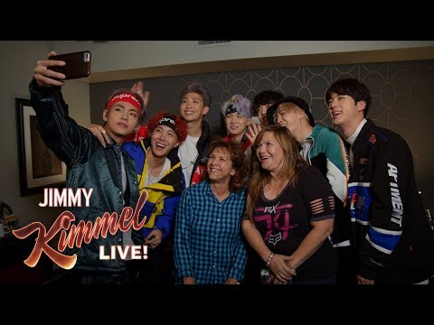 BTS Surprises Super Fans & Their Moms on Kimmel