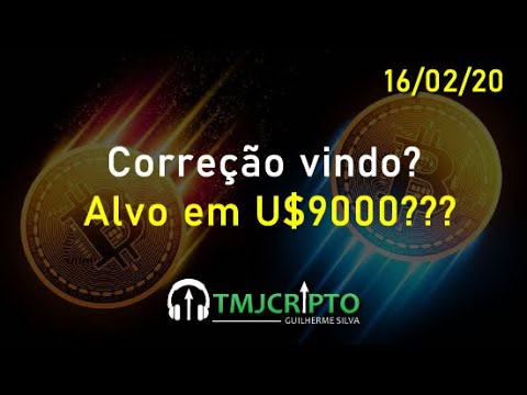 Análise Bitcoin - Correção Vindo? Vamos Voltar A U$9000???