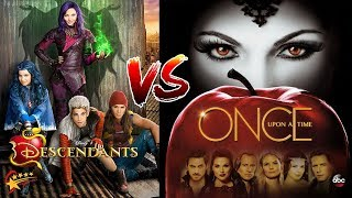 Descendants 1 And 2 Vs Once Upon A Time❤This Way Would Be The Parents Of The Villains And Heroes Of