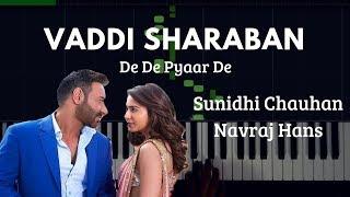 Vaddi Sharaban - De De Pyaar De | Piano Tutorial (Synthesia) | Shubham K