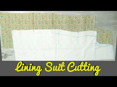 Lining Suit Cutting ( Easy Steps) #SaraArtAndDesign , #LinningSuitCutting , #SuitCutting