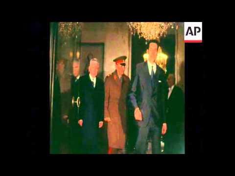 SYND 1-12-72 SOVIET DEFENCE MINISTER GRECHKO VISITS PARIS