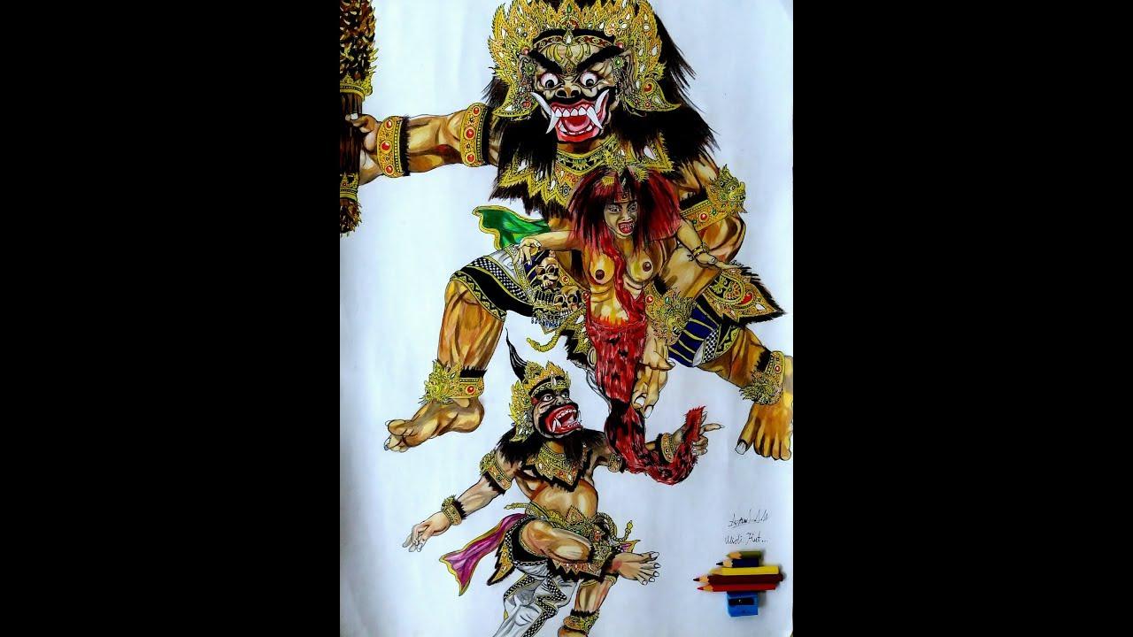 Sket Gambar Ogoh Ogoh ATMANING WONG ANDESTI Dengan Pensil