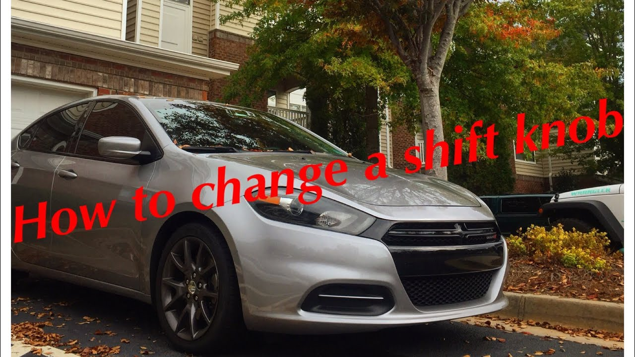 Dodge Dart Shift Knob   How to Remove/Replace