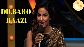 Hina Khan Singing Alia Bhatt's Latest Movie Song DILBARO Live on award show