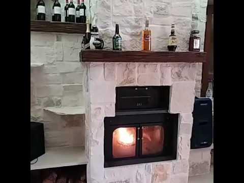 Termocamino ftl con forno genius combinato legna pellet - Cucina a pellet con forno ...