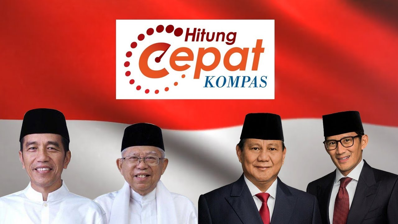 quick count pilpres dan pemilu 2019 litbang kompas  youtube