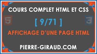 COURS COMPLET HTML ET CSS [9/71] - Création d'une page HTML