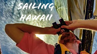 Beating upwind from Lahaina to Honolua