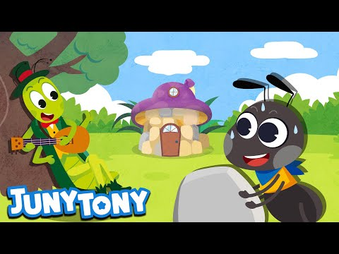 The Ant And The Grasshopper | Aesop's Fables | English Story For Kids | Juny&Tony By KizCastle