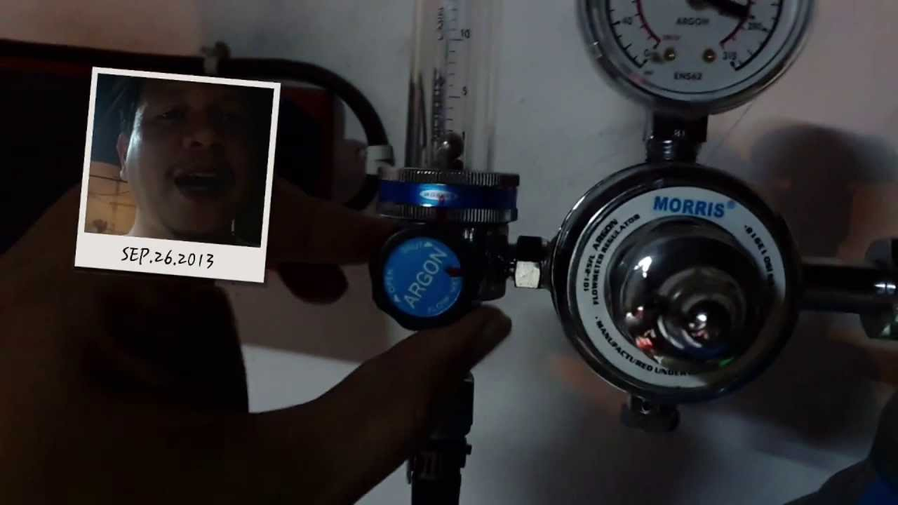Menyetel Regulator Argon Thermal Arc 186 Tig Welding Youtube
