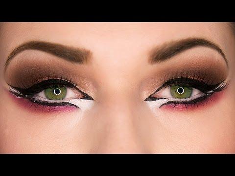 fa80dac6b2324 Arab Makeup for Eid - Dramatic Arab Eyeliner Makeup Tutorial المكياج العربي  عيد
