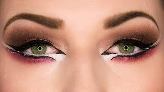Arab Makeup for Eid - Dramatic Arab Eyeliner Makeup Tutorial المكياج العربي عيد