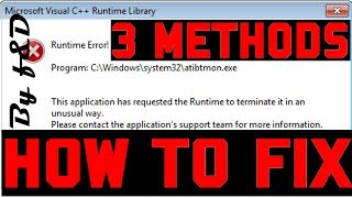 How to fix runtime error the application has requested the runtime to terminate it in an unusual way
