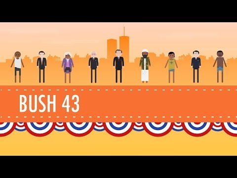 """Terrorism, War, and Bush 43: Crash Course US History #46: You can directly support Crash Course at https://www.patreon.com/crashcourse Subscribe for as little as $0 to keep up with everything we're doing. Free is nice, but if you can afford to pay a little every month, it really helps us to continue producing this content.  In which John Green teaches you about the tumultuous 2000's in the United States of America, mainly the 2000's that coincide with the presidency of George W Bush. From the controversial election in 2000, to the events of 9/11 and Bush's prosecution of the War on Terror, the George W. Bush presidency was an eventful one. John will teach you about Bush's domestic policies like tax cutting, education reform, and he'll get into the wars in Afghanistan and Iraq. The event that came to pass during Bush's presidency are still very much effecting the United States and the world today, so listen up!  Hey teachers and students - Check out CommonLit's free collection of reading passages and curriculum resources to learn more about the events of this episode. Much of President Bush's term was defined by the events following the terror attack on September 11, including his support for the Patriot Act: https://www.commonlit.org/texts/president-bush-on-the-patriot-act President Bush also sought to prevent discord with Muslim Americans following the 9/11 attacks in his Islam is Peace"""" Speech: https://www.commonlit.org/texts/president-bush-s-islam-is-peace-speech"""