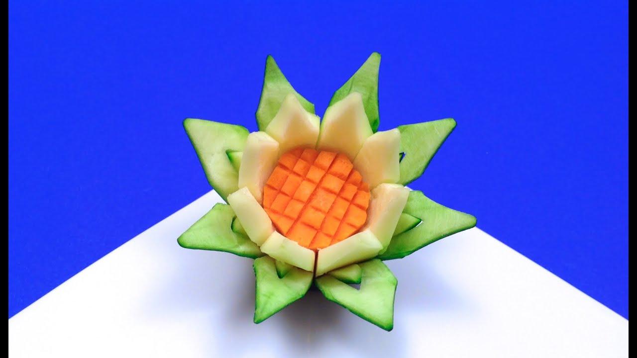 Comment faire une fleur de lotus en courgette hd youtube - Comment faire une fleur ...