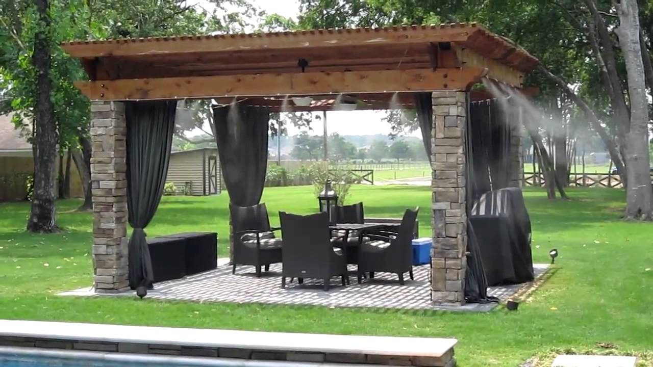 patio misting systems, water misters - youtube