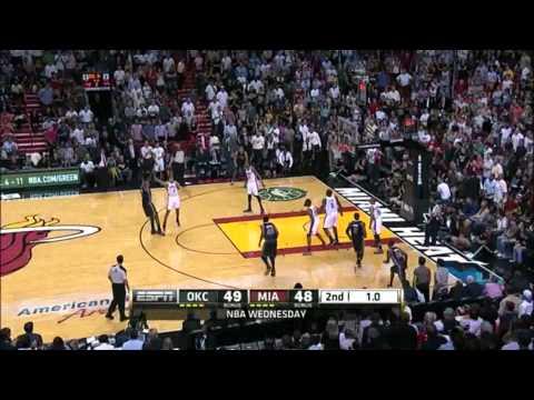 Lebron James 34 points vs New Oklahoma City thunder Full highlights 04.04.2012