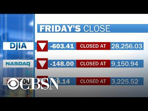 U.S. stock market tumbles amid coronavirus fears