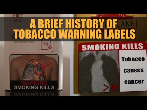 A brief history of tobacco warning labels