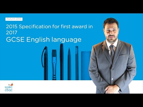 WJEC GCSE English Language - New Specification - Wales only