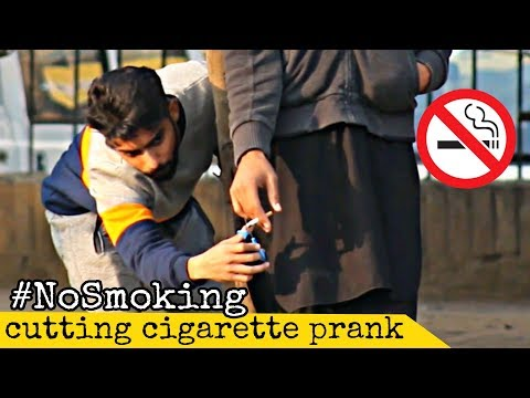 Cutting People's Cig@rettes Prank | Prank In Pakistan