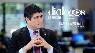 Carlos Alvarado, presidente de Costa Rica en Diálogos La Nación