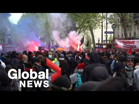 May Day protests: Demonstrators in Berlin, Paris clash with police
