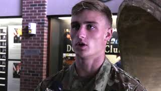 Tom Williamson caught two touchdowns in Army's 17-14 win over Navy.