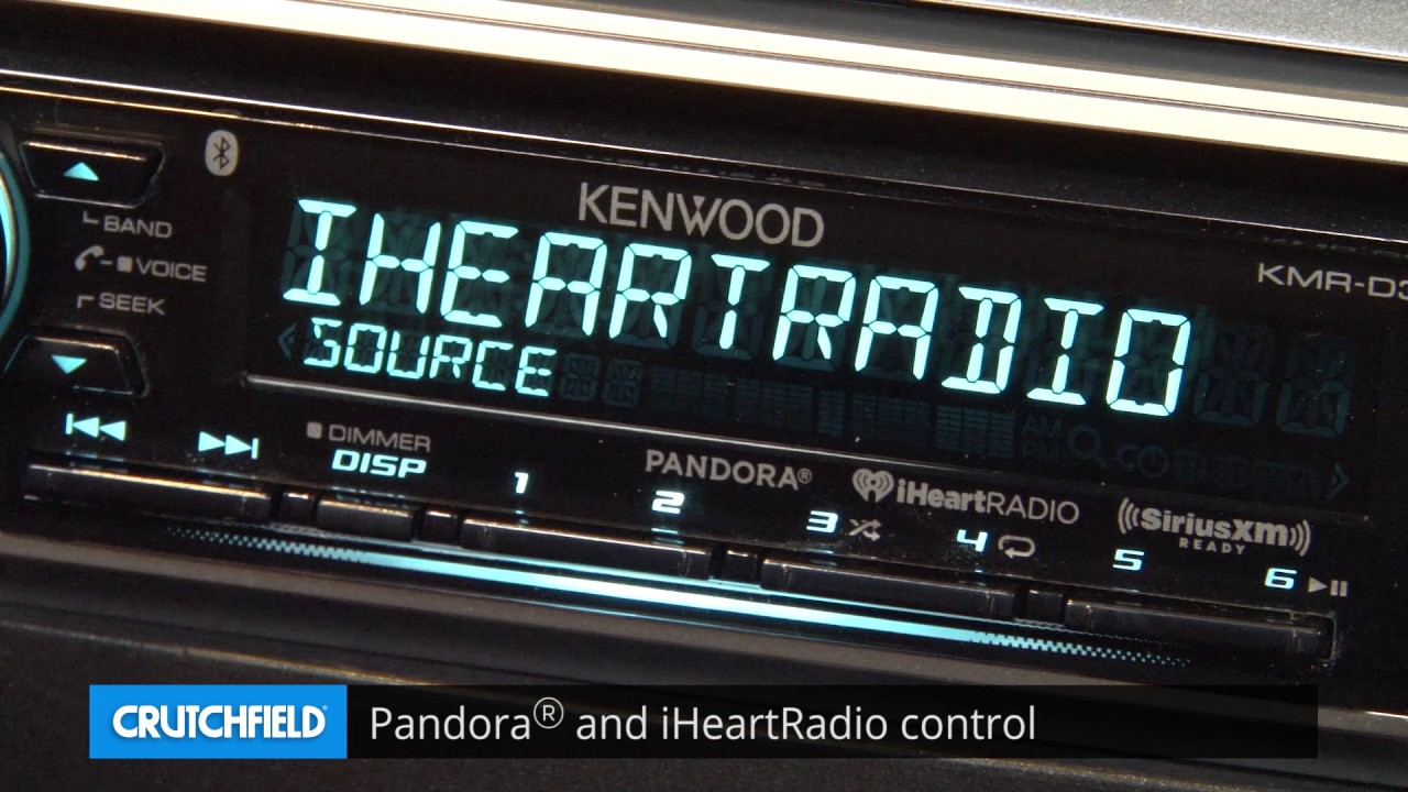 Kenwood KMR-D368BT Display and Controls Demo | Crutchfield Video on