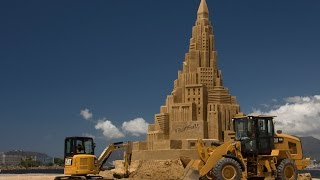 Built For It Trials - Sand Castle: Cat Products Build World\u0027s Tallest Sand Castle