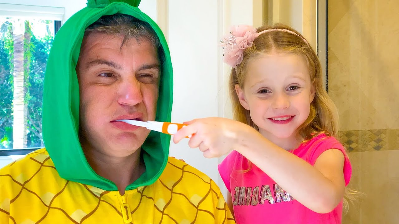 Nastya and dad changed roles