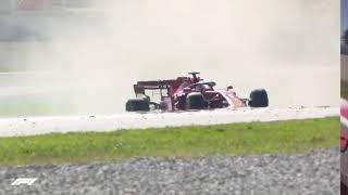 Sebastian Vettel Spins Day 1 Week 2 testing F1 2020 Pre-Season live commentary Barcelona