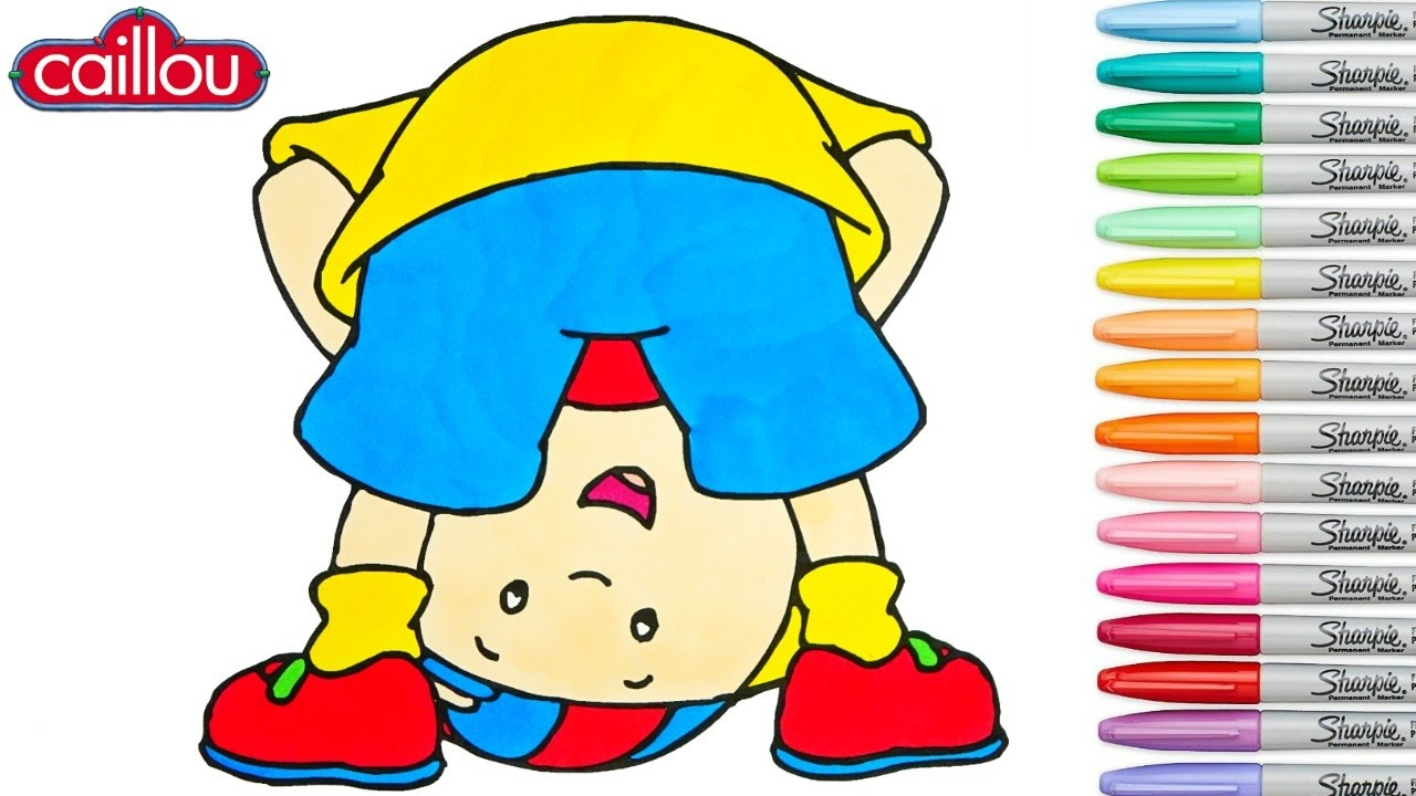 Caillou Coloring Book Episode Colouring Pages Preschool Rainbow