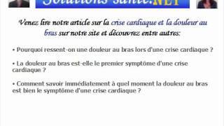 la relation entre la crise cardiaque et la douleur au bras