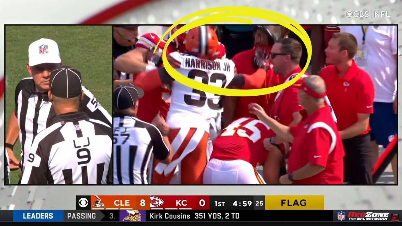 Cleveland Browns' Ronnie Harrison Jr. ejected after shoving Kansas ...